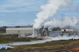 Usine exploitant geothermie